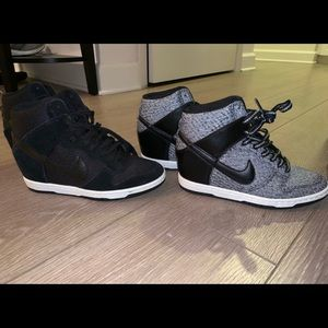 Two women's size 6 Nike high tops